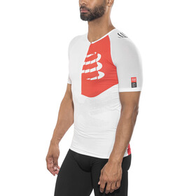 Compressport Triathlon Postural Aero Short Sleeve Top Men White